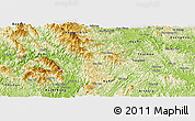 Physical Panoramic Map of Ngan Son