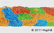 Political Panoramic Map of Ngan Son