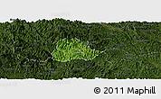 Satellite Panoramic Map of Ngan Son, darken