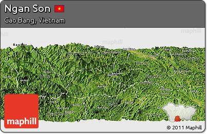 Satellite Panoramic Map of Ngan Son