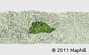 Satellite Panoramic Map of Ngan Son, lighten