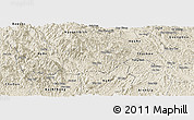 Shaded Relief Panoramic Map of Ngan Son