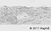 Silver Style Panoramic Map of Ngan Son