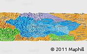Political Shades Panoramic Map of Cao Bang