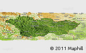 Satellite Panoramic Map of Cao Bang, physical outside