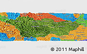 Satellite Panoramic Map of Cao Bang, political outside