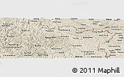 Shaded Relief Panoramic Map of Cao Bang