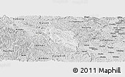 Silver Style Panoramic Map of Quang Hoa
