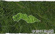 Satellite 3D Map of Thach An, darken