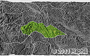 Satellite 3D Map of Thach An, desaturated
