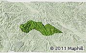 Satellite 3D Map of Thach An, lighten