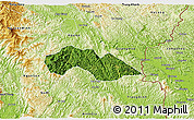 Satellite 3D Map of Thach An, physical outside