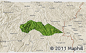 Satellite 3D Map of Thach An, shaded relief outside