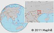 Gray Location Map of Thach An