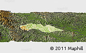 Physical Panoramic Map of Thach An, darken