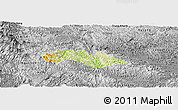 Physical Panoramic Map of Thach An, desaturated