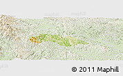 Physical Panoramic Map of Thach An, lighten