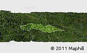 Satellite Panoramic Map of Thach An, darken