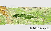 Satellite Panoramic Map of Thach An, physical outside