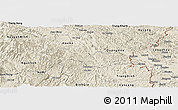 Shaded Relief Panoramic Map of Thach An