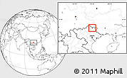 Blank Location Map of Thong Nong