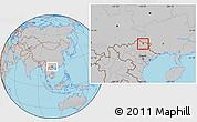 Gray Location Map of Thong Nong