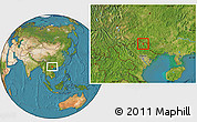 Satellite Location Map of Thong Nong