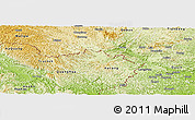 Physical Panoramic Map of Trung Khanh