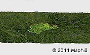Satellite Panoramic Map of Trung Khanh, darken