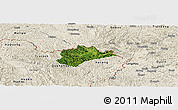 Satellite Panoramic Map of Trung Khanh, shaded relief outside