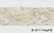 Shaded Relief Panoramic Map of Trung Khanh
