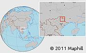 Gray Location Map of Tx.Cao Bang