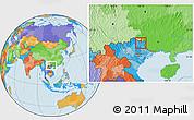 Political Location Map of Tx.Cao Bang