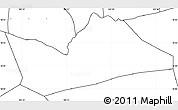 Blank Simple Map of Hong Ngu, no labels
