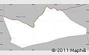 Gray Simple Map of Hong Ngu