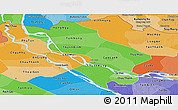 Political Shades Panoramic Map of Dong Thap