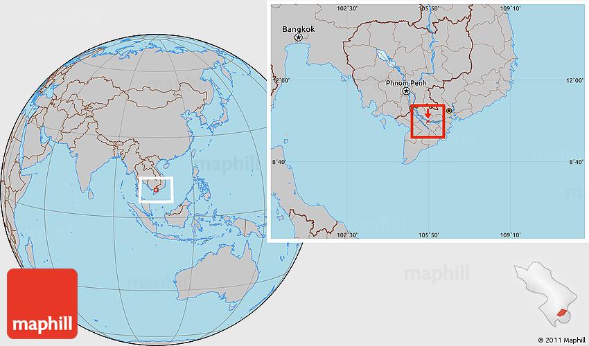 sa dec vietnam map Gray Location Map Of Sa Dec