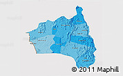 Political Shades 3D Map of Gia Lai, cropped outside