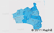 Political Shades 3D Map of Gia Lai, single color outside
