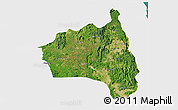 Satellite 3D Map of Gia Lai, single color outside