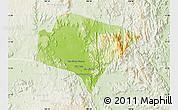 Physical Map of A Yun Pa, lighten