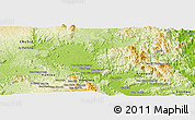 Physical Panoramic Map of A Yun Pa