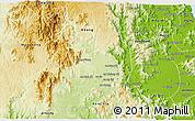 Physical 3D Map of An Khe