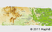 Physical Panoramic Map of An Khe