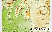Physical Map of Chu Pa