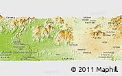 Physical Panoramic Map of Chu Pa