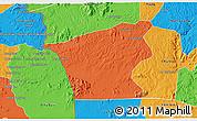 Political 3D Map of Chu Prong