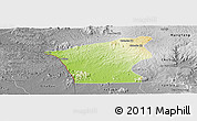 Physical Panoramic Map of Chu Prong, desaturated