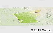 Physical Panoramic Map of Chu Prong, lighten