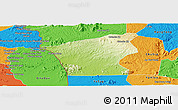 Physical Panoramic Map of Chu Prong, political outside